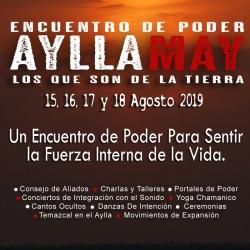 PRE-INSCRIPCION · ENCUENTRO DE PODER · AYLLA MAY
